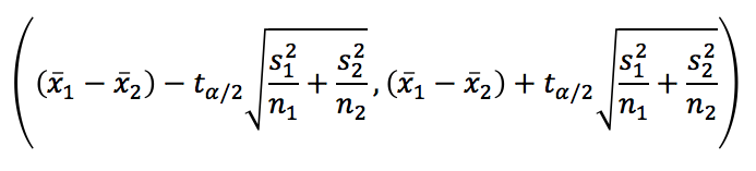 10. A Confidence Interval for the Difference of Two Independent Means